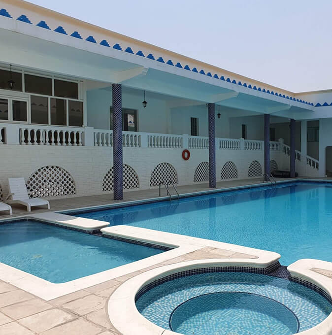 Communal pool at Misan Gardens, Saar, Bahrain